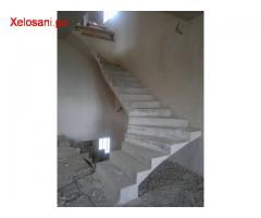 რკინა ბეტონის კიბეების აწყობა
