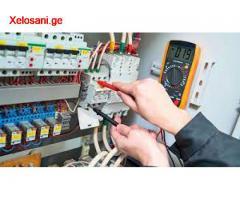 ელექტრიკი ელექტრო გაყვანილობა ელექტრო მონტაჟი ჭაღები electrik